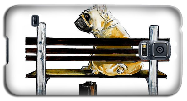 Forest Gump French Bulldog Caricature Art Print Galaxy S5 Case