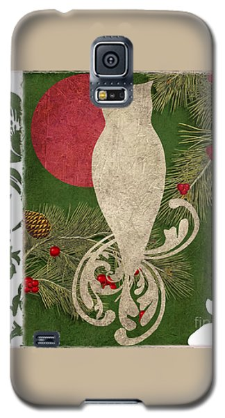 Forest Holiday Christmas Owl Galaxy S5 Case by Mindy Sommers