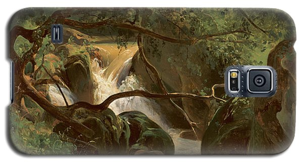 Forest Interior With A Waterfall Papigno Galaxy S5 Case
