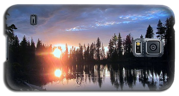 Galaxy S5 Case featuring the photograph Forest Lake Sunset  by Irina Hays