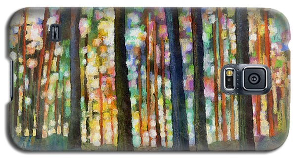 Galaxy S5 Case featuring the painting Forest Light by Hailey E Herrera