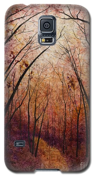 Galaxy S5 Case featuring the painting Forest Path by Hailey E Herrera