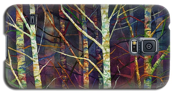 Galaxy S5 Case featuring the painting Forest Rhythm by Hailey E Herrera