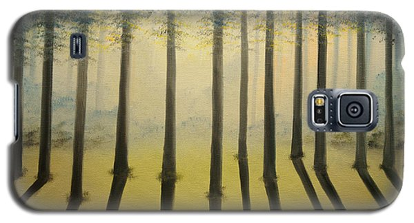 Galaxy S5 Case featuring the painting Forest Thru The Trees II by Chris Fraser