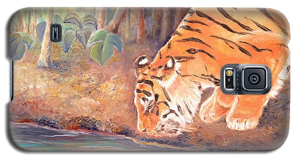 Galaxy S5 Case featuring the painting Forest Tiger by Elizabeth Lock