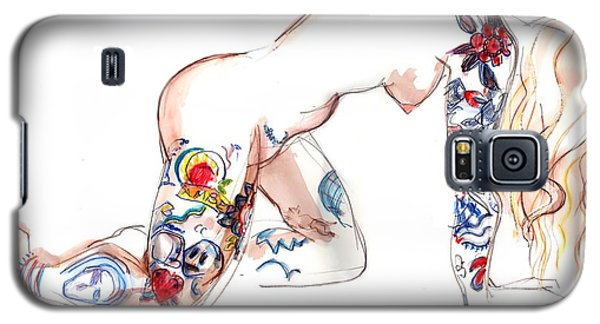 Forever Amber - Tattoed Nude Galaxy S5 Case