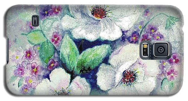 Forget-me-knots And Roses Galaxy S5 Case by Hazel Holland