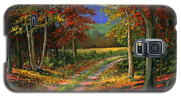 Galaxy S5 Case featuring the painting Forgotten Road by Frank Wilson