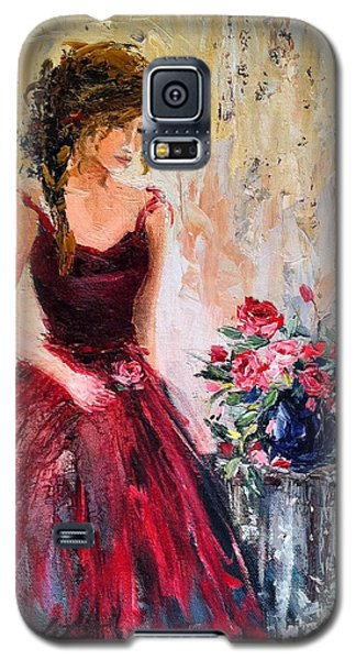 Galaxy S5 Case featuring the painting Forgotten Rose by Jennifer Beaudet