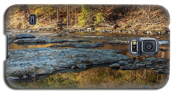 Galaxy S5 Case featuring the photograph Fork River Reflection In Fall by Iris Greenwell