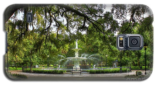 Forsyth Park Fountain Historic Savannah Georgia Galaxy S5 Case by Reid Callaway