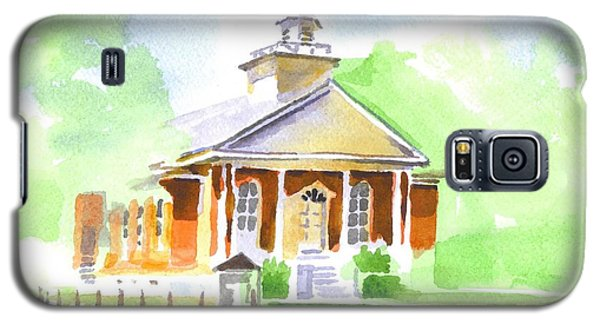 Galaxy S5 Case featuring the painting Fort Hill Methodist Church 2 by Kip DeVore