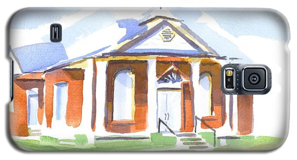 Galaxy S5 Case featuring the painting Fort Hill Methodist Church by Kip DeVore