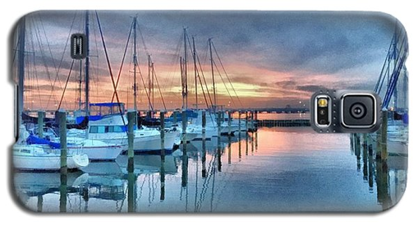 Fort Monroe Afire Galaxy S5 Case by Linda Mesibov
