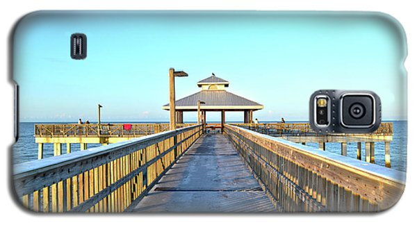 Galaxy S5 Case featuring the photograph Fort Myers Beach Florida Fishing Pier by Timothy Lowry