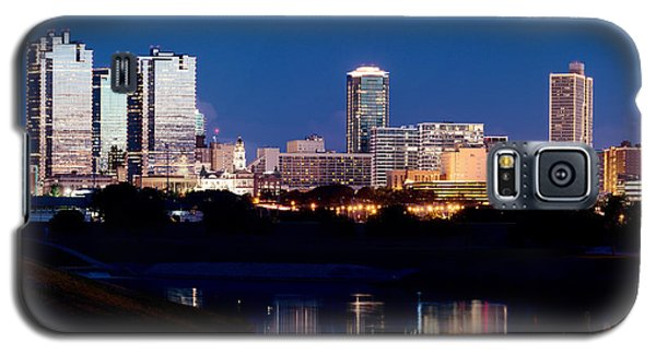 Fort Worth Skyline At Night Poster Galaxy S5 Case