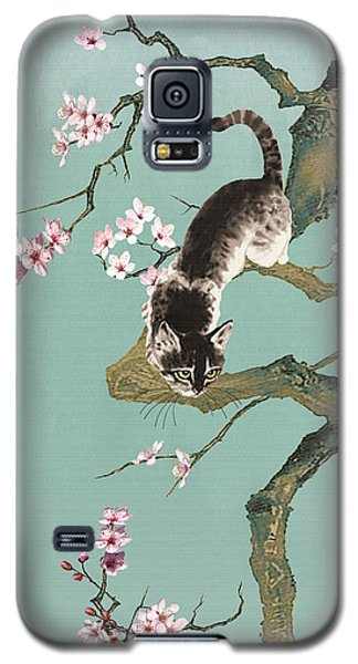 Fortune Cat In Cherry Tree Galaxy S5 Case