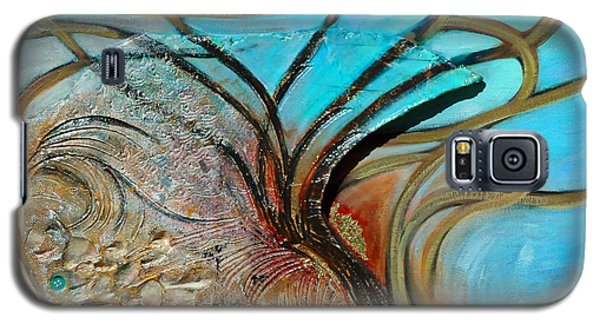 Galaxy S5 Case featuring the painting Fossil In The Deep by Suzanne McKee