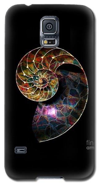Galaxy S5 Case featuring the digital art Fossilized Nautilus Shell by Klara Acel