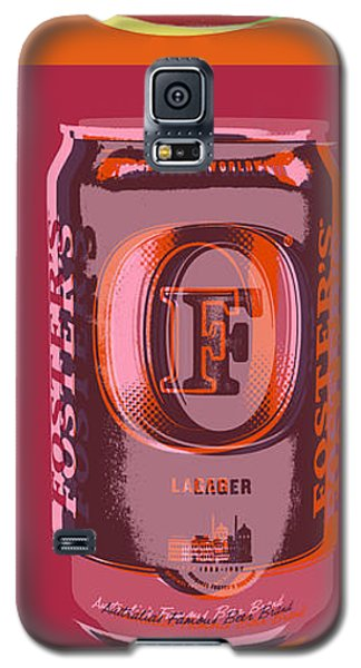Galaxy S5 Case featuring the digital art Foster's Lager Pop Art by Jean luc Comperat