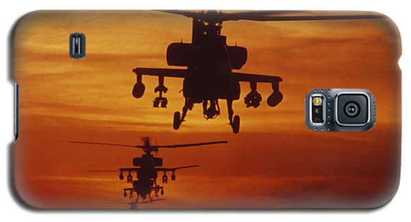 Helicopter Galaxy S5 Case - Four Ah-64 Apache Anti-armor by Stocktrek Images