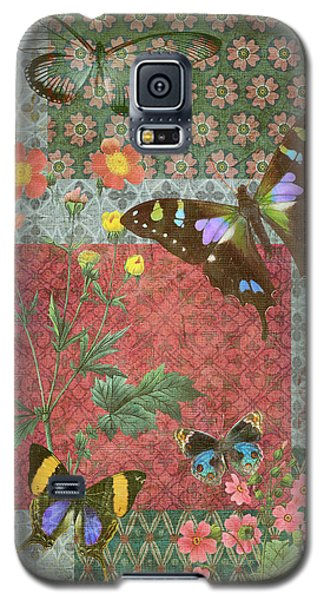 Four Butterfly Patch Green Galaxy S5 Case