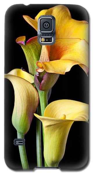Four Calla Lilies Galaxy S5 Case by Garry Gay