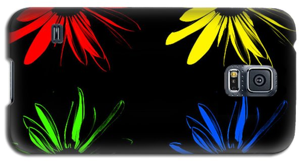 Galaxy S5 Case featuring the photograph Four Flowers by Maggy Marsh
