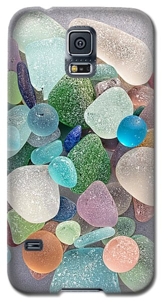 Four Marbles And A Rainbow Of Beach Glass Galaxy S5 Case