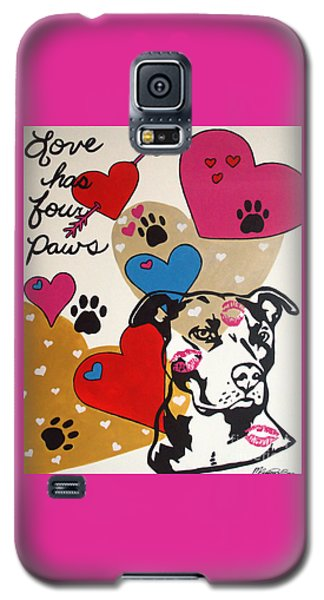 Four Pitty Paws Galaxy S5 Case