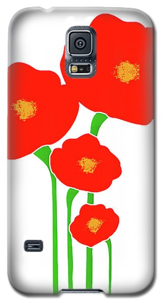 Four Red Flowers Galaxy S5 Case