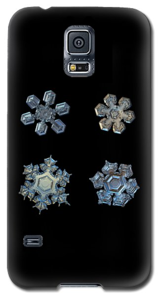 Four Snowflakes On Black 2 Galaxy S5 Case