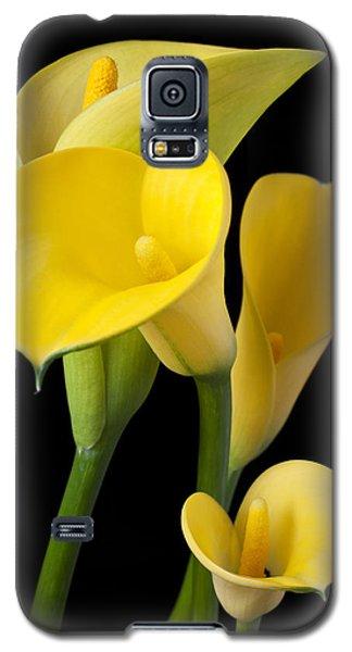 Four Yellow Calla Lilies Galaxy S5 Case