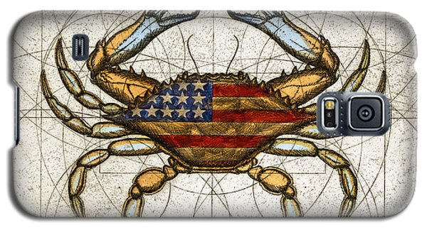 Galaxy S5 Case featuring the painting Fourth Of July Crab by Charles Harden