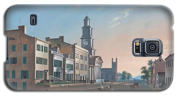 Galaxy S5 Case featuring the painting Fourth Street. West From Vine by John Caspar Wild