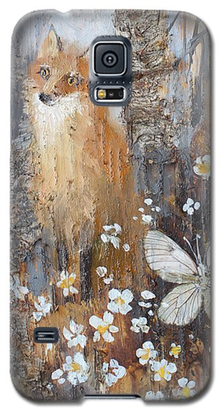 Fox And Butterfly Galaxy S5 Case