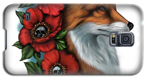 Fox And Poppies Galaxy S5 Case