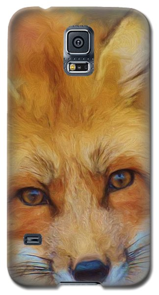 Fox Face Taken From Watercolour Painting Galaxy S5 Case