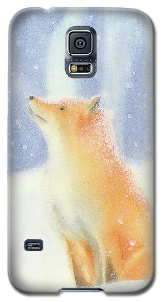 Fox In The Snow Galaxy S5 Case by Taylan Apukovska