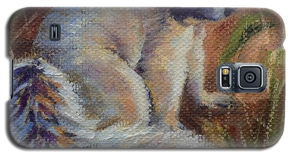 Galaxy S5 Case featuring the painting Fox Squirrel by Pam Talley