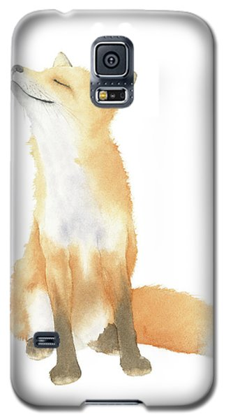 Fox Watercolor Galaxy S5 Case by Taylan Apukovska