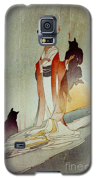 Galaxy S5 Case featuring the photograph Fox Woman 1912 by Padre Art