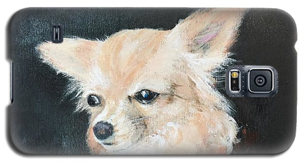 Galaxy S5 Case featuring the painting Foxy Lady  by Bonnie Heather