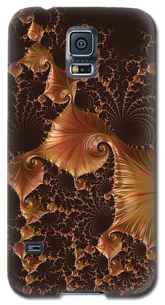 Galaxy S5 Case featuring the digital art Fractal Alchemy by Susan Maxwell Schmidt