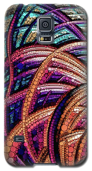 Galaxy S5 Case featuring the painting Fractal Farrago by Susan Maxwell Schmidt