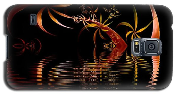 Fractal Fireworks Reflections Galaxy S5 Case