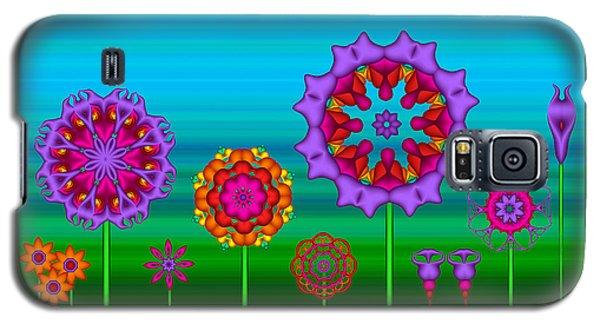 Whimsical Fractal Flower Garden Galaxy S5 Case