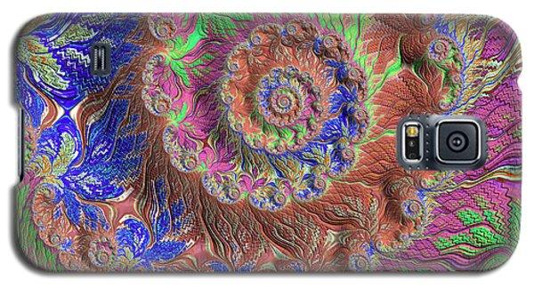 Galaxy S5 Case featuring the digital art Fractal Garden by Bonnie Bruno