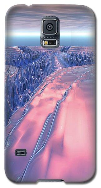 Fractal Glacier Landscape Galaxy S5 Case