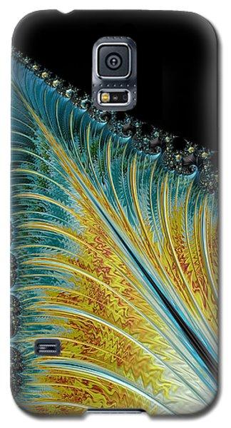 Galaxy S5 Case featuring the digital art Fractal Leaf by Bill Barber